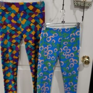2 pairs lularoe leggings size: one size